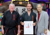 Sensei Jon is awarded his 2nd Dan in Kobudo, March 2015.