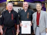 Sensei Mark is awarded his 3rd Dan in Kobudo, March 2015.
