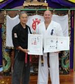 Shihan Cunningham with Sensei Hokama, 2011