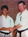Sempai Rob James and Shihan Howard Lipman in the early 1990's