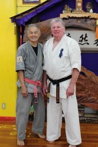 Sensei Hokama & Shihan Lipman in November 2012