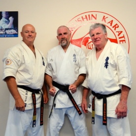 Shihan Cunningham and Shihan Lipman with their newest Sensei
