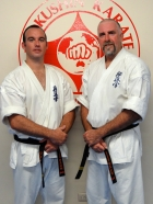 Sempai Jon Ellis and Sensei Mark McFadden, head instructors of KIMAA's North Coast classes