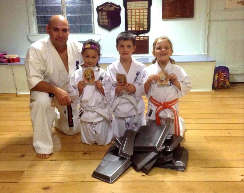 Sempai Rob with his students after the class.