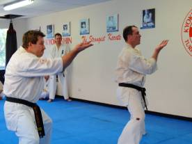 Sensei Mark & Sensei James perform kata.