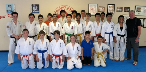 Knox Senior School Karate class, November 2013