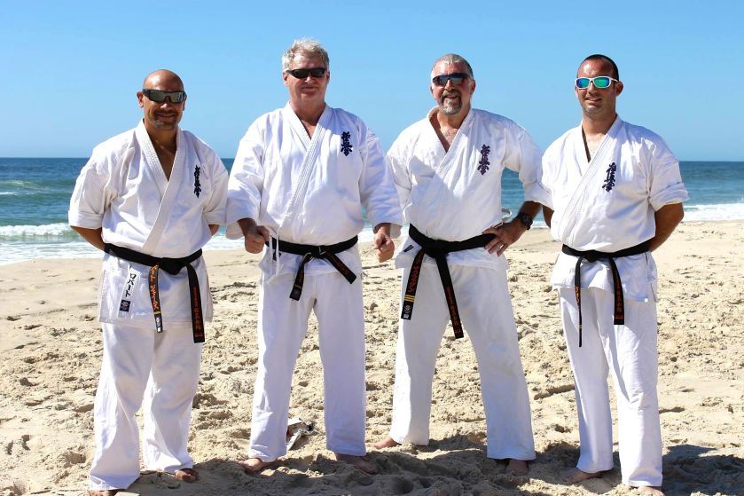 Sempai Rob James, Sempai Wally Gray, Sensei Mark McFadden & Sempai Jon Ellis