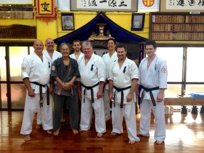 KIMAA tour group photo with Sensei Hokama