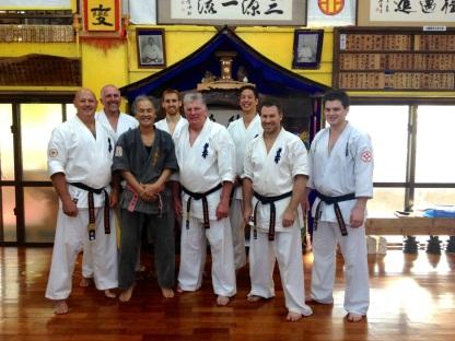 KIMAA tour group photo with Sensei Hokama