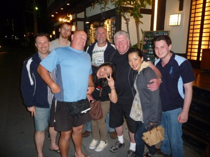 Group with Yoshi after dinner
