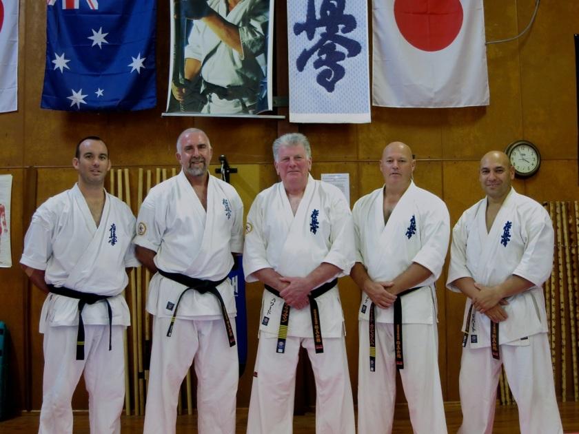 KIMAA's head instructors: Sempai Jon, Sensei Mark, Shihan Lipman, Shihan Cunningham & Sempai Rob