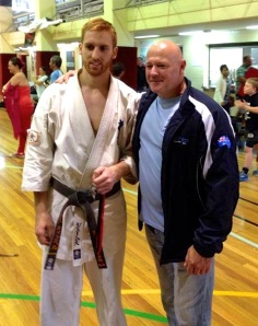Sempai James Campbell with Shihan Rick Cunningham