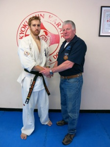 Sempai James Campbell with Shihan Howard Lipman, June 2014