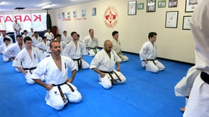 1st Row, L-R: Sempai Jon Ellis, Sempai Rob James, Sempai Alex Lloyd. 2nd Row, L-R: Sempai Todd Murphy, Jeremy Gray, Will Brook.