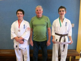 Shihan Lipman with Angus & Victor Sweeney