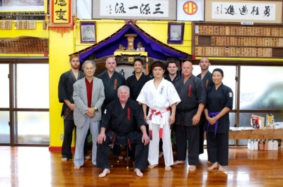 KIMAA tour group with Sensei Hokama and Shihan Ogura