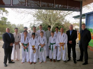 KIMAA competitors with coaches Shihan Cunningham, Shihan Lipman and Sensei James Sidwell.