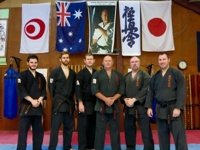 Sydney's Kobudo black belts.
