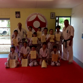 Aspley Dojo Little Lions with Shihan Lipman.