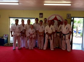Aspley Dojo adults with Shihan Lipman.