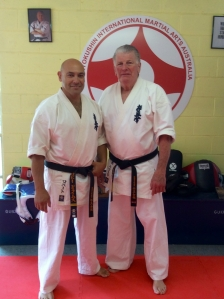Sempai Rob James with Shihan Howard Lipman