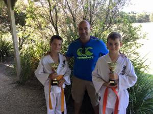 Sempai Rob James and his Little Lion champions.