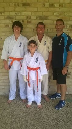 Sensei Jon with the competitors from Ballina Dojo.