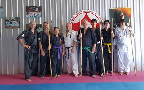 Kobudo students in the KIMAA Lismore Seminar.