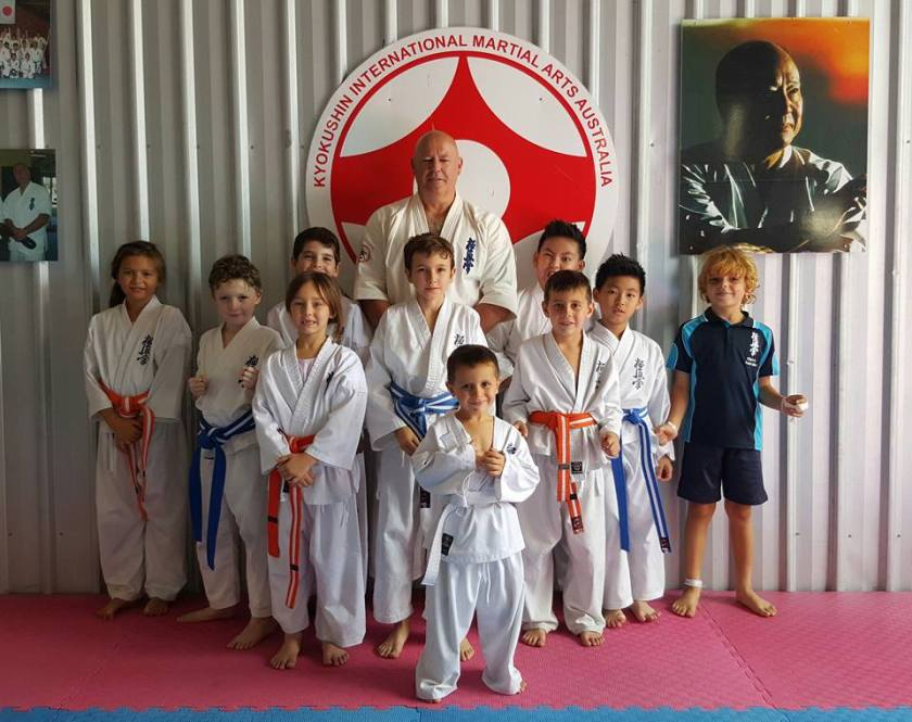 Shihan Rick Cunningham with the North Coast Little Lions.