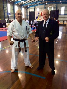 Sempai Rob James with Kancho Jim Casey at the NAS.