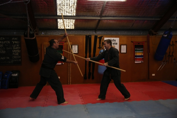 Partner work: Sensei Jon with Sensei Mark.