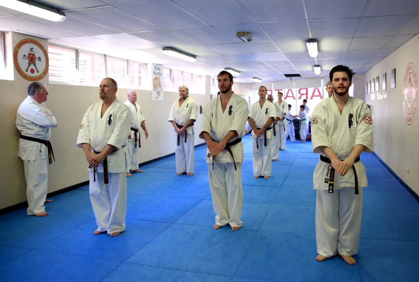 KIMAA Yudansha ready for the next kata.