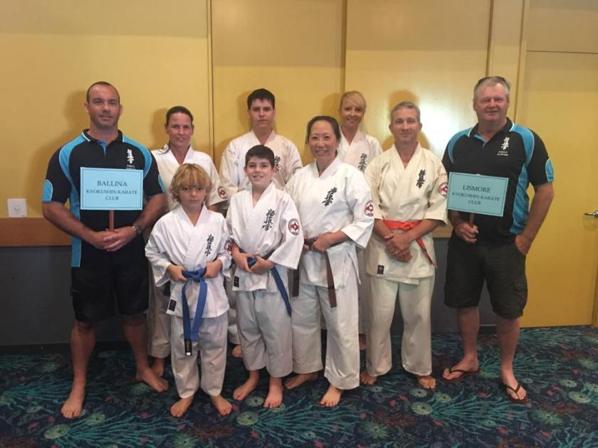 Sensei Jon and Sempai Wally with the KIMAA competitors.