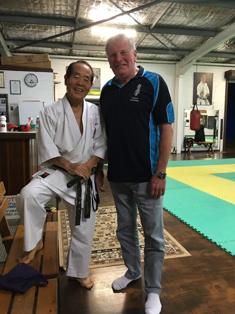Shihan Lipman with Sensei Matsumoto at his dojo.