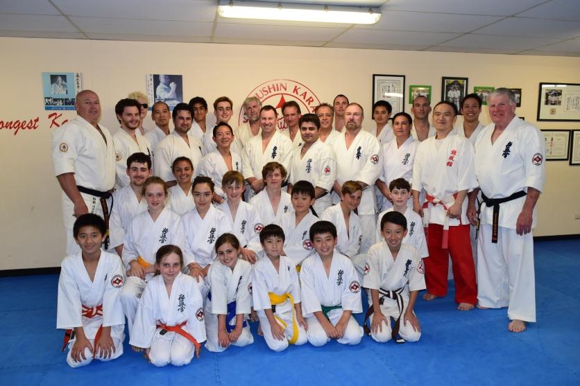 The Wednesday night class at the Shihan Ken Seminar.