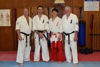 Shihan Rick Cunningham, Shihan Peter Olive, Shihan Ken Ogura & Shihan Howard Lipman, November 2016.