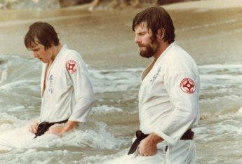 Shihan Howard (right) in seiza