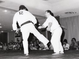 Shihan Howard fighting in a tournament