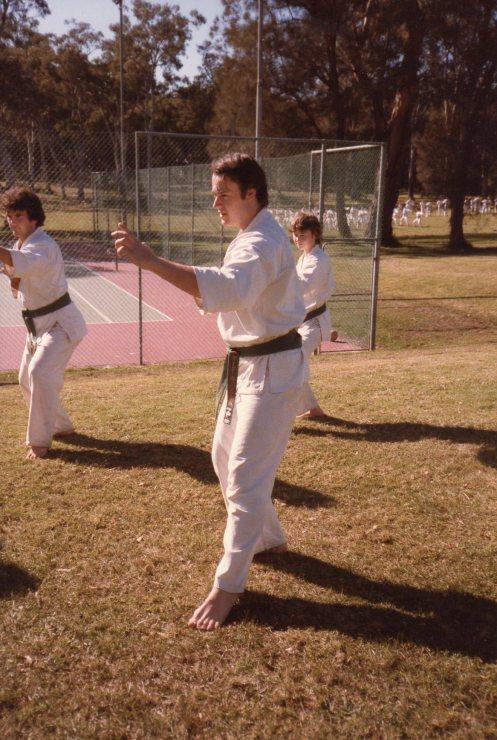 Shihan Rick Cunningham as a brown belt