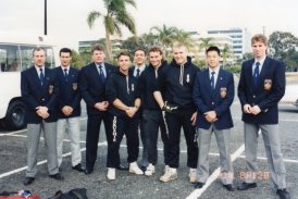 Sensei Paul & Shihan Howard at a Queensland tournament