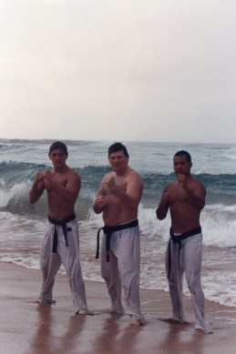 Anthony, Shihan Howard & Sensei Mark Ting