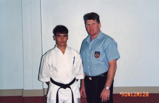 Sempai Rob James with Hanshi Howard Lipman