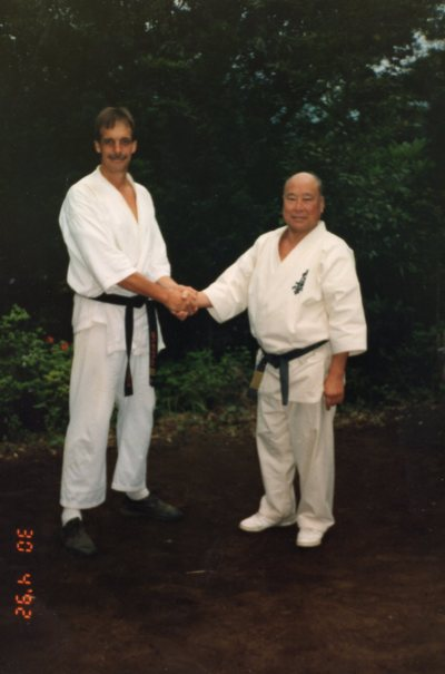 Shihan John Williams with Sosai Mas Oyama