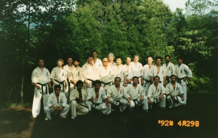 After training in Sosai's back garden.