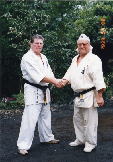 Hanshi Howard Lipman graded to 5th Dan (Shihan) by Sosai Masutatsu Oyama in 1992.