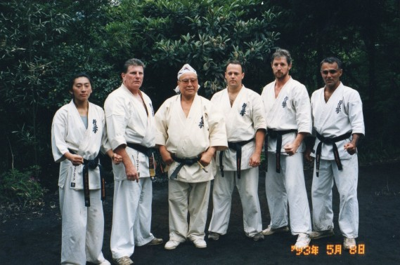Shihan Lipman and Shihan Cunningham with Sosai