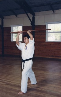 Sensei Mark Ting performs Chion kata