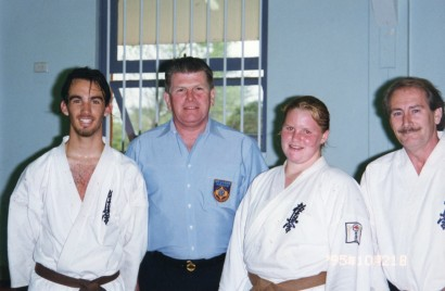 Sensei Jon after the grading with Shihan Lipman