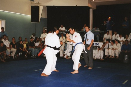 Sensei Jon Ellis (red side)
