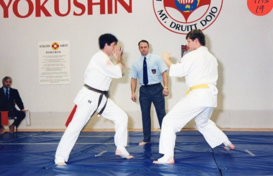 Sensei Ian Holdaway (right)